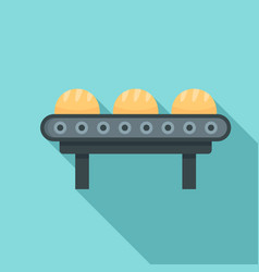 line of bread factory icon flat style vector image