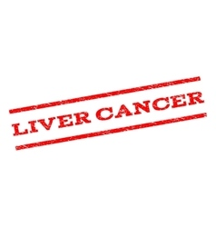 Liver Cancer Watermark Stamp vector