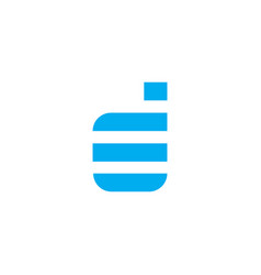 logo letter d blue stripes vector image