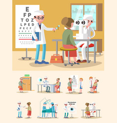 Medical treatment ophthalmology composition vector