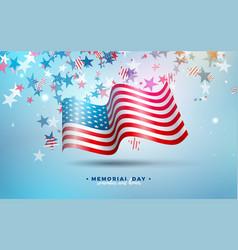 memorial day usa design template vector image