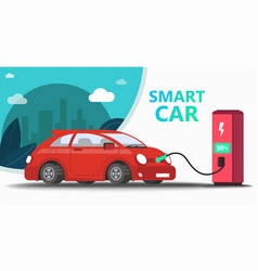 mock up popular car station fast charging vector image