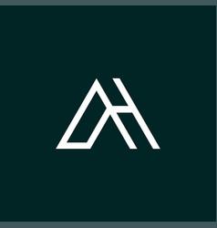 Modern and unique ah letter initials logo vector