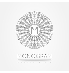 MONOGRAM icon vector