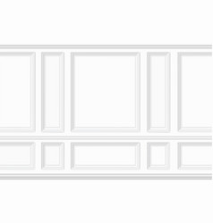 Moulding white wall panel vector