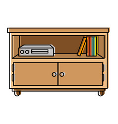 nightstand bedroom with books vector image