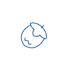 nut line icon concept nut flat symbol vector image