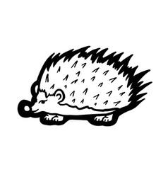 Painted hedgehog vector