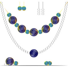 painting in the style of zen art jewelry earrings vector image