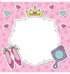 princess frame vector image