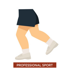 Professional sport concept with athlete legs in vector