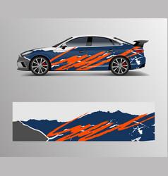 Racing car wrap design wrap design for custom vector