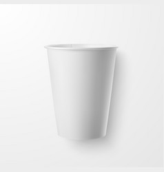 Realistic 3d white paper disposable cup vector