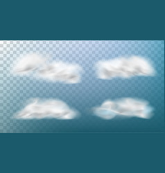 realistic clouds isolated on transparent vector image
