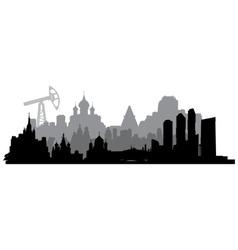 Russia silhouette vector