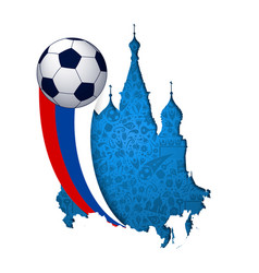 Russia soccer cathedral landmark cutout vector