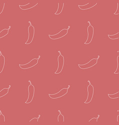 Seamless pattern with line style icon chilli vector