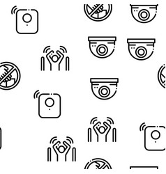 shoplifting seamless pattern vector image