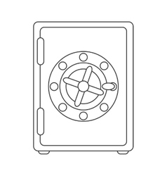 strongbox box security safe money vector image