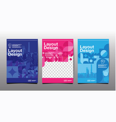 Template layout design cover book vector