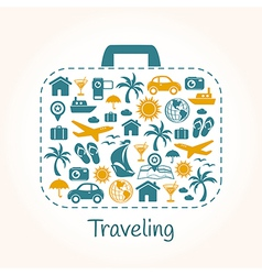 Travel holiday suitcase vector image vector image
