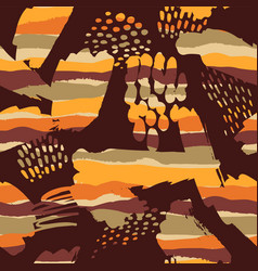 Tribal ethnic seamless pattern with strokes vector
