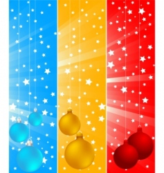 vector Christmas banners vector image