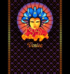 Venice postcard vector
