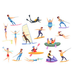 water sports set vector image vector image