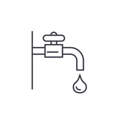 water tap line icon concept water tap vector image