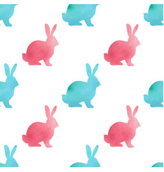 Watercolor easter seamless pattern vector