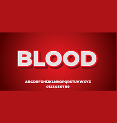 White 3d with red shadow font style design vector