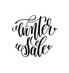 Winter sale hand lettering inscription to winter vector
