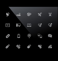wireless icons 32px series vector image