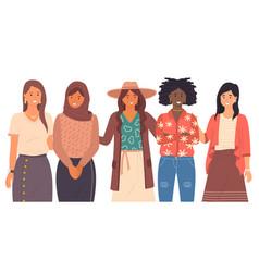 Women s international community interracial vector