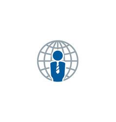 World job logo icon design vector