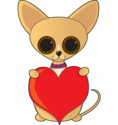 Chihuahua valentine vector image