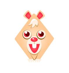 cute geometric rabbit animal colorful cartoon vector image