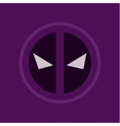 evil eye abstract purple logo sign flat style art vector image vector image