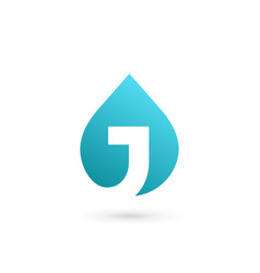 letter j water drop logo icon design template vector image vector image