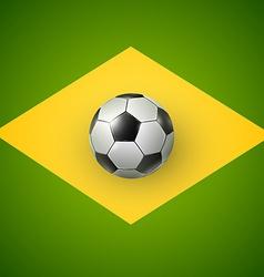 Soccer ball of Brazil 2014 vector image