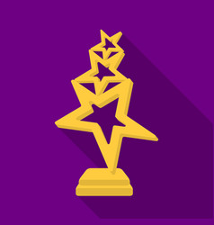 the reward in the form of gold stars on a stand vector image