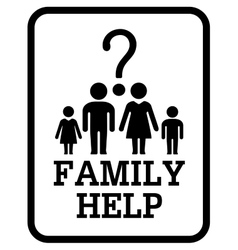 Family help symbol vector