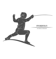 Fencing player athletes vector