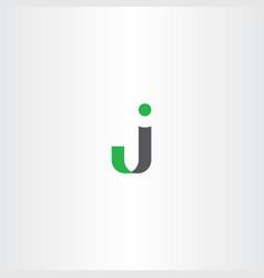 j logo letter symbol vector image vector image