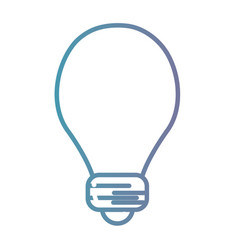 line power bulb electric energy vector image