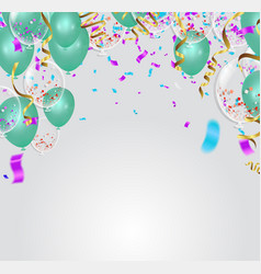 party decoration air balloons confetti and vector image