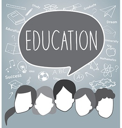 People of Education concept vector image