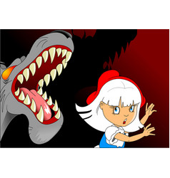 scary wolf vector image vector image