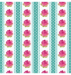 Seamless wallpaper pattern with flowers on blue vector image